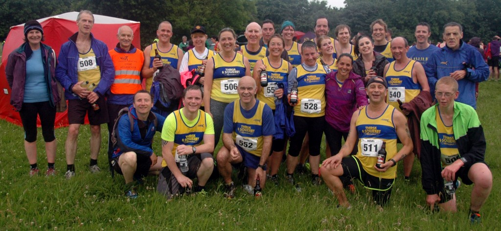 Thirsk and Sowerby Harriers, cheerful after the HDSRL Handicap at Ripon