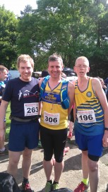 Bryan Miller, Alan Simpson and Phillip Craig at the Wainstones Half Marathon